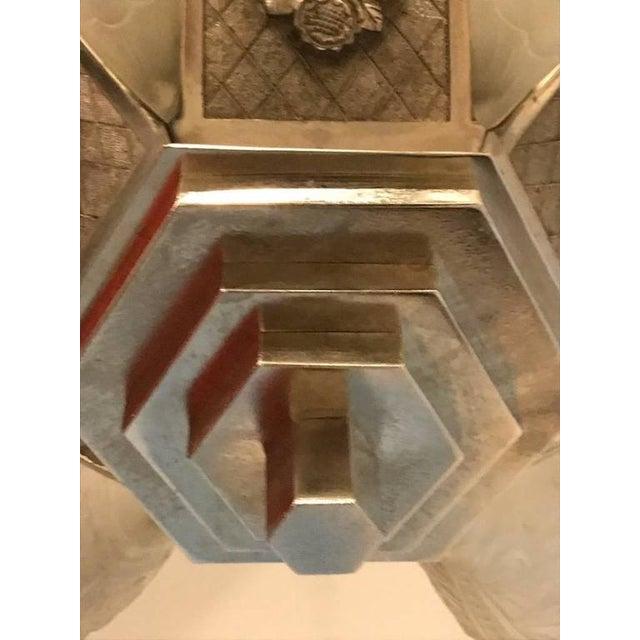 """German Art Deco Chandelier with """"Skyscraper"""" Motif - Image 8 of 10"""