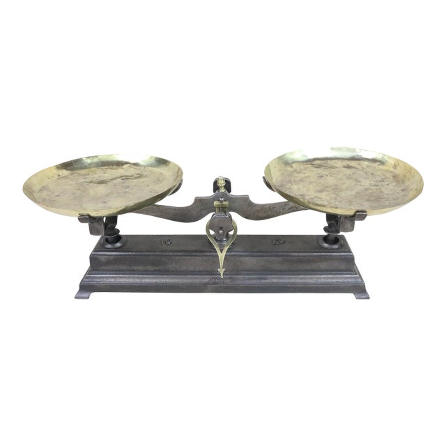 19th Century French Cast Iron Balance Scale For Sale