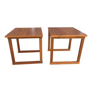 Danish Teak Side Tables - a Pair For Sale