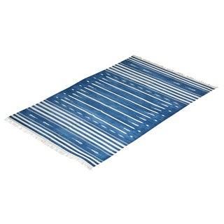 Blackthorn Rug, 5x8, Blue & White For Sale