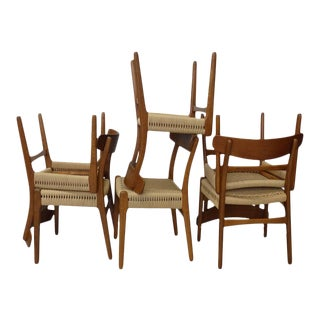 Set of 6 Restored Hans Wegner Ch-23 Dining Chairs