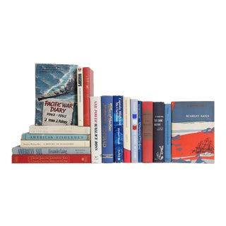 American Nautical Book Set, S/18 For Sale