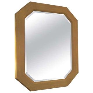 Custom Octagonal Cream Shagreen Mirror For Sale