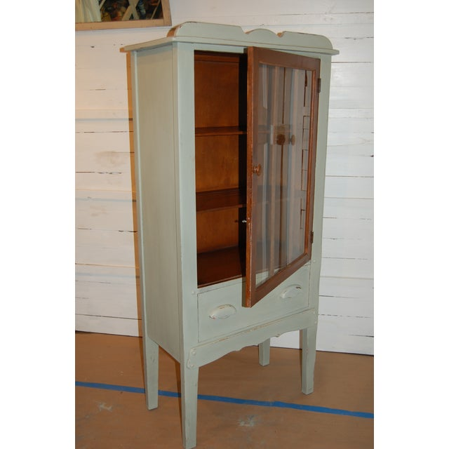 Antique Painted Display Cabinet - Image 4 of 10