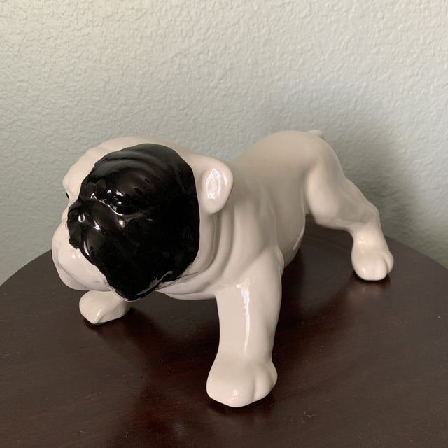 Ceramic Mid Century Bulldog Ceramic Figurine For Sale - Image 7 of 7