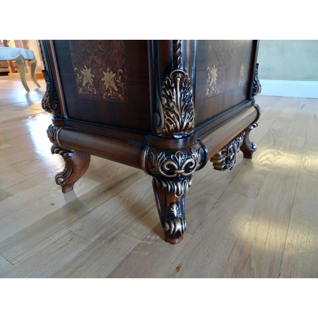 Brown Extra Large Italian Baroque Style Solid Wood Dining Set - 9 Pieces For Sale - Image 8 of 12