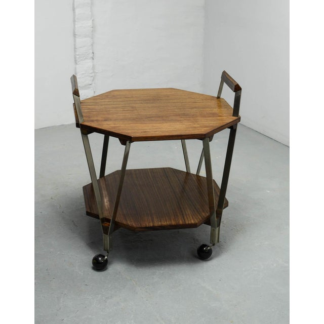 Mid-Century Octagonal Serving Trolley Designed by Ico Parisi for Stildomus Milan, Italy, 1959 For Sale - Image 6 of 13