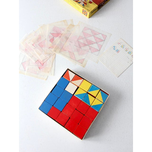 Blue Playskool Color Cubes Toy Blocks Circa 1970 For Sale - Image 8 of 12