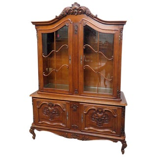 Belgian Oak Victorian China Cabinet