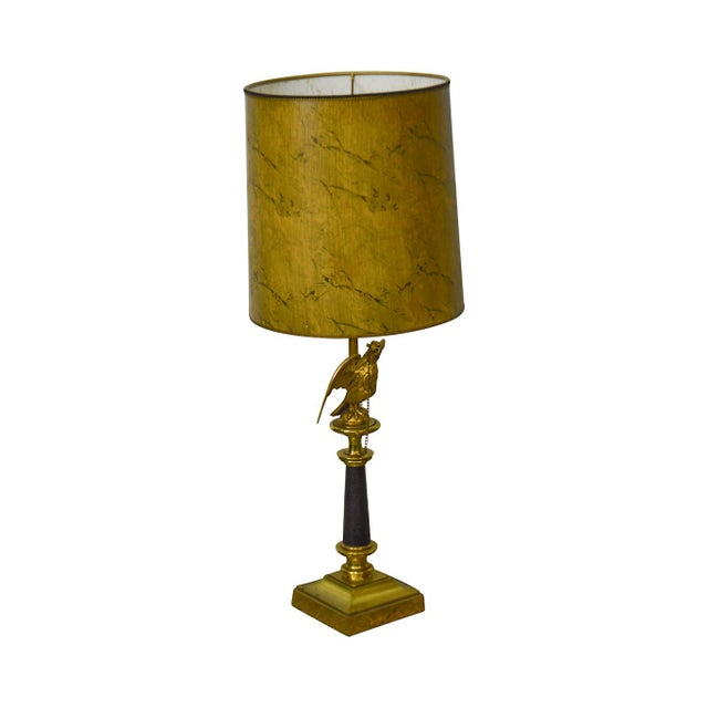 Stiffel Vintage Federal Style Brass American Eagle Table Lamp For Sale - Image 12 of 12