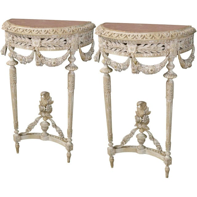 19th Century Pair of French Louis XVI Consoles For Sale - Image 11 of 11