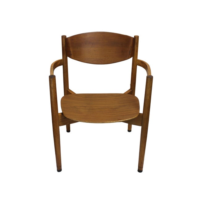 Vintage Jens Risom Stacking Chairs - Set of 6 - Image 5 of 6