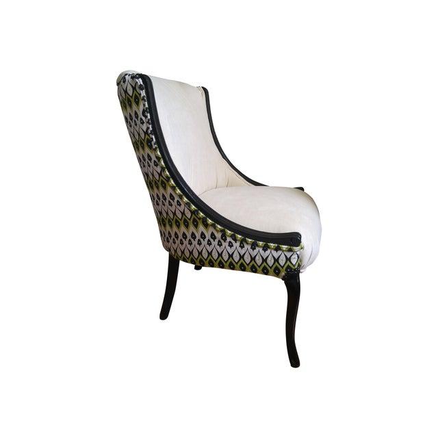 Amazing Ivory Black Accent Chair Ibusinesslaw Wood Chair Design Ideas Ibusinesslaworg