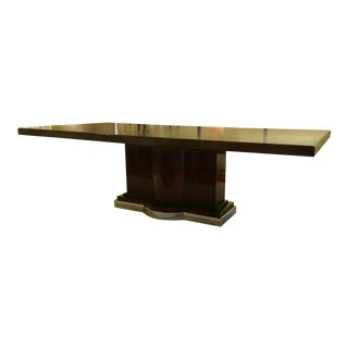 Hickory White Modern Walnut Finished Wood Gramercy Dining Table For Sale