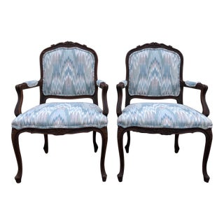 Country French Bergere Chairs - a Pair For Sale