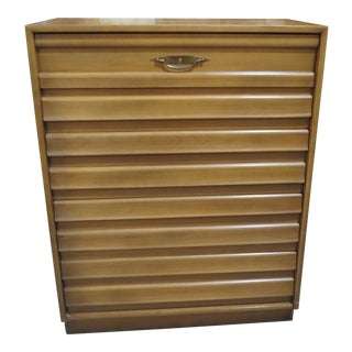 1960s Mid-Century Modern Merton Gershun American of Martinsville Louvered Chest of Drawers