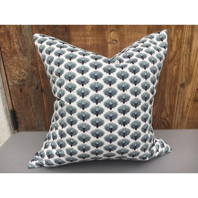 Indian Hand Blocked Pillow For Sale In Los Angeles - Image 6 of 6