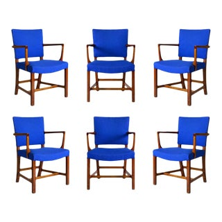 Set of Six Kaare Klint Armchairs For Sale