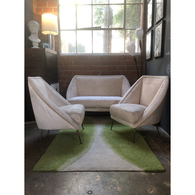 Guglielmo Veronesi Settee With Two Lounge Chairs For Sale - Image 9 of 10