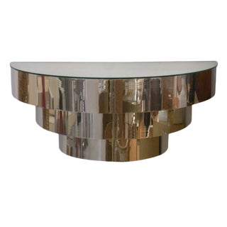 Mid-Century Modern Chrome Wall Mount Console For Sale