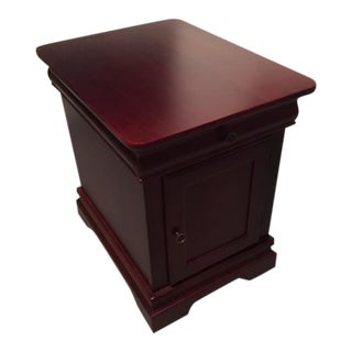 Riverside Dark Cherry Wood End Table Accent Cabinet For Sale