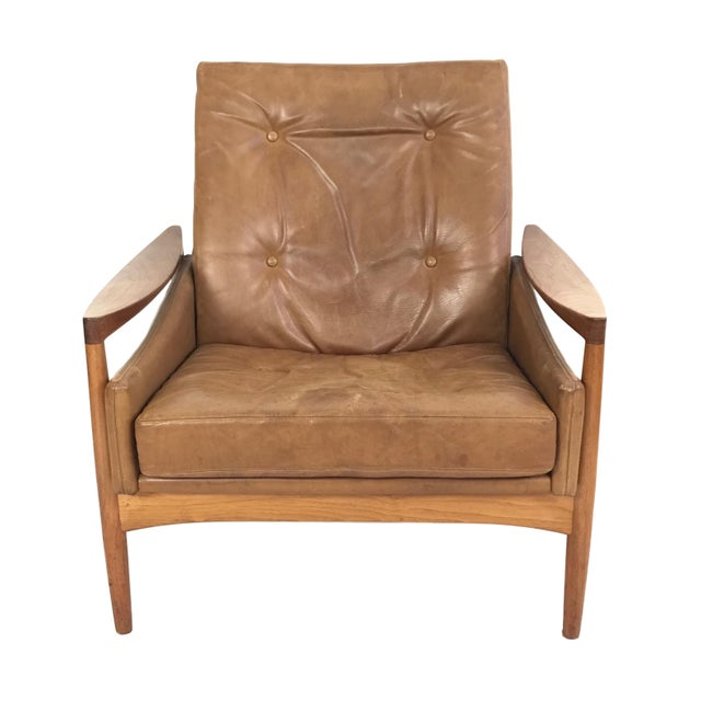 1960s Vintage Erik Worts Danish Armchair For Sale - Image 13 of 13