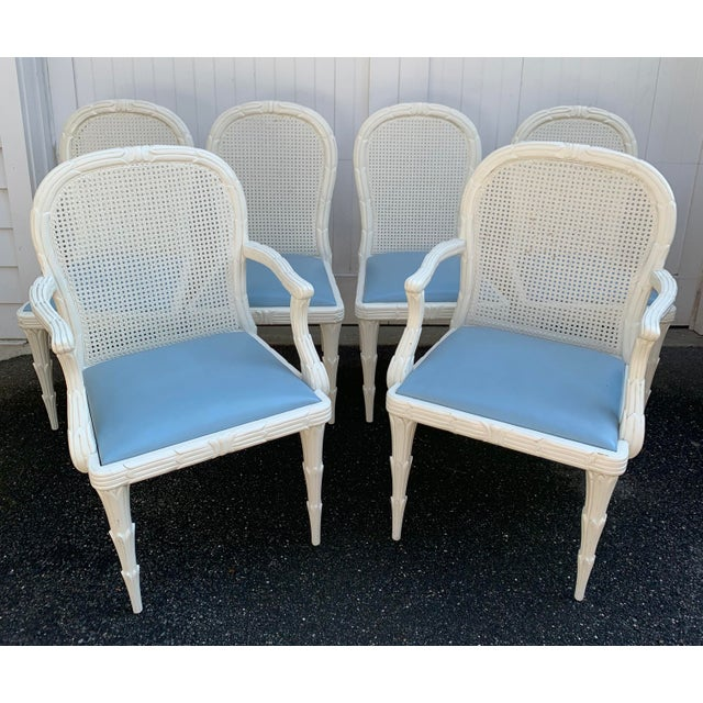 Hollywood Regency style at its finest! This set of 6 Serge Roche Style Dining Chairs - 2 arm chairs and 4 side chairs are...