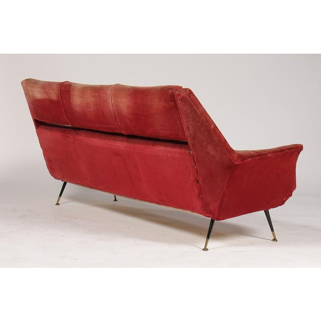 Italian Mid Century Italian Sofa Sku:2.0325 For Sale - Image 3 of 5