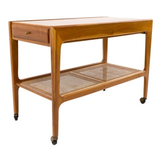 Mid Century Modern Wooden Bar Cart For Sale