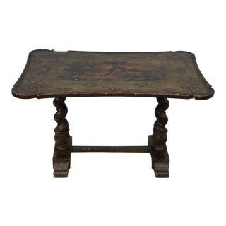 Antique French Handpainted Coffee Table For Sale