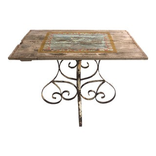 1960s Rustic Cast Iron Table