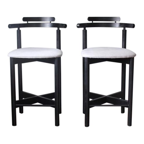 Mid-Century Modern Gangso Mobler Bar Stools - A Pair - Image 1 of 5