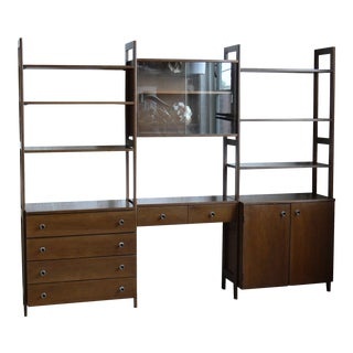 1960s Mid Century Modern Cado 3-Bay Modular Wall Unit For Sale