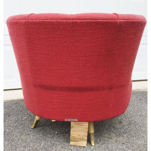 Kroehler Atomic Age Swivel Chair For Sale - Image 5 of 11