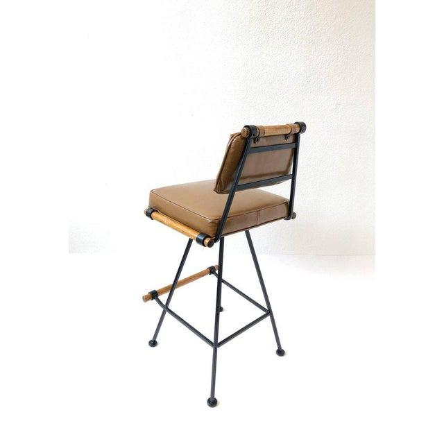 Animal Skin Set of Three Swivel Barstools For Sale - Image 7 of 10