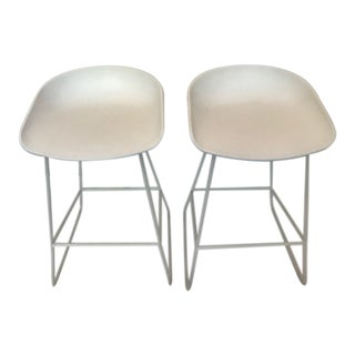 Design Within Reach White Hay Counter Stools - a Pair For Sale