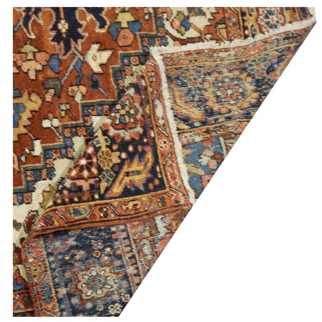 Antique Persian Heriz Rug - 9 x 11.10 - Image 3 of 9