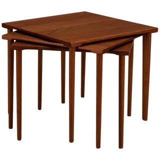 Danish Stacking Teak End Tables by France & Daverkosen - Set of 3 For Sale