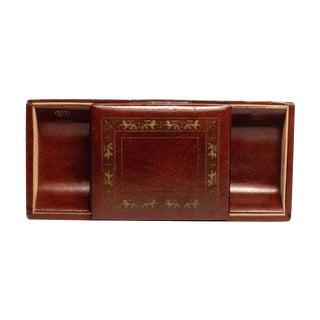 Vintage Leatherette Jewelry Desk Set For Sale
