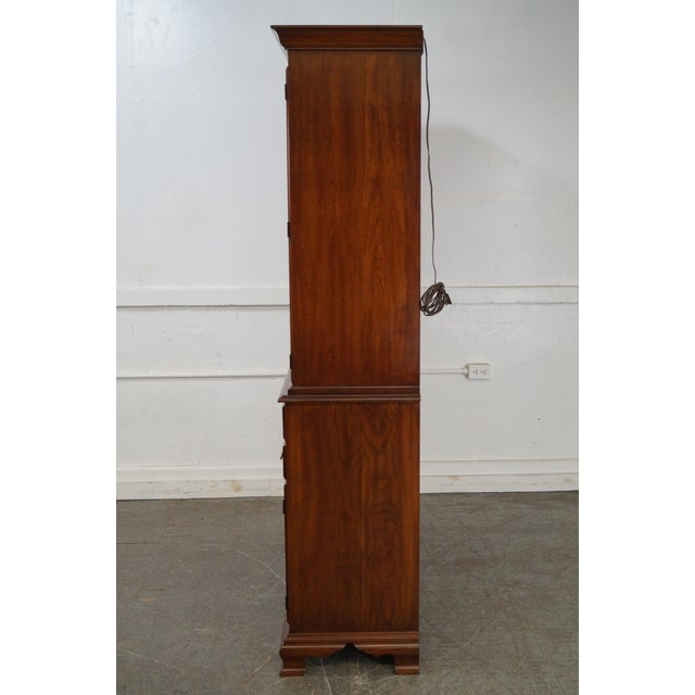 Henkel Harris Solid Cherry 2 Piece Breakfront China Cabinet - Image 3 of 10