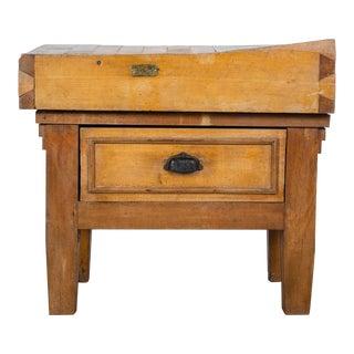 1930s Art Deco Butcher Block Table For Sale