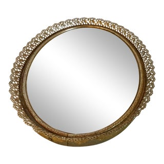 20th Century Hollywood Regency Gold Wall Mirror For Sale