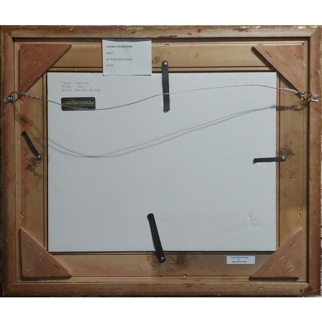 Drawing/Sketching Materials Donna Jensen Burke -Sandy Overlook at a Mendocino Beach-Painting For Sale - Image 7 of 8