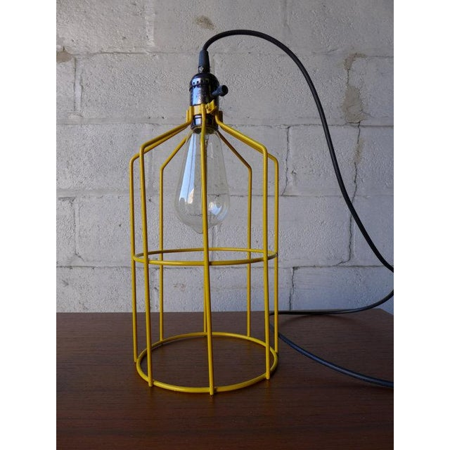 Industrial Canary Yellow Mid Century Styled Pendant Lamp For Sale - Image 3 of 7