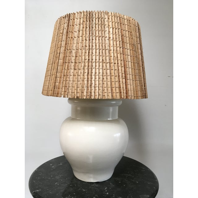 1960s Vintage White Ceramic Table Lamp For Sale - Image 11 of 11
