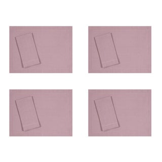 Heather Lilac Linen Placemats and Dinner Napkins - 8 Pieces For Sale