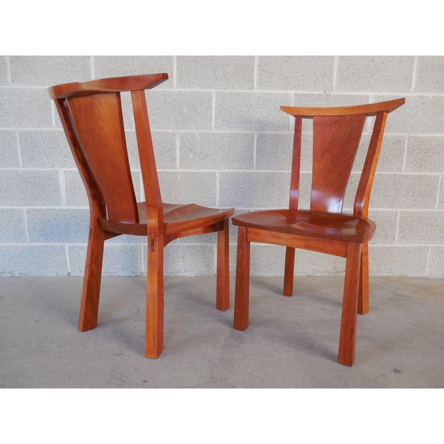 Thos. Moser Cherry Edo Dining Chairs - A Pair - Image 3 of 6