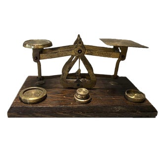 Antique British Brass Postal Scale
