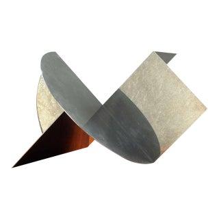 Cerchio+Quadrato=Volume' Sculptural Steel Object by Getulio Alviani, Italy For Sale