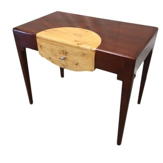 French Art Deco Art Moderne Two Tone Desk With Drawer